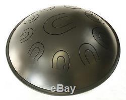 LunaDrum Chandra 17 scale Equinox handpan, hank, tank, steel tongue drum