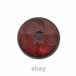 Lunabell 8-Inch Tunable Steel Tongue Drum Ruby Red 8 Inch Ruby Red