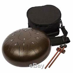 Luvay Steel Tongue Drum 11 Notes 12 inches Percussion Instrument with B