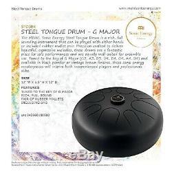 MEINL Sonic Energy Steel Tongue Drum Black G Dur STD3BK