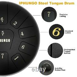 Moukey 10 Inch Steel Tongue Drum Drum 8 Notes with Padded Travel Bag
