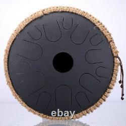 NEW Steel Tongue Drum 13 inch 15 tone Drum Handheld Tank Drum Percussion- NEW