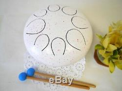 New! WuYou 10 Steel Tongue Drum Handpan 8 note + Cushion bag + 2mallets + CD