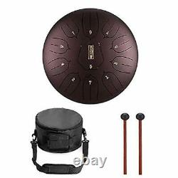 Niome 12 Inch Steel Tongue Drum 11 Notes withTravel Bag and MalletsTank Drum Ch