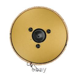 Padded Handpan Steel 13 Percussion Tongue Drum for 15 Notes Gift Book Mallets