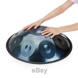Professional 10 Notes Handdrum 22 Handmade Carbon Steel Tongue Hand Drum + Bag