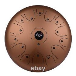 Professional 14Inch 15 Tone Steel Tongue Drum Hand Pan C-Key Percussion