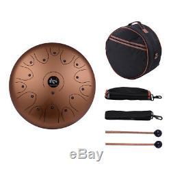 Professional 14 Inch 15-Tone Steel Tongue Hand Pan Drum C Key Percussion F1L9