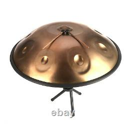 Professional 9 Notes Handpan Tongue Steel Hand Drum Carbon Steel Gold
