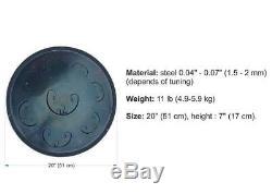 RAV Vast Drum. D Major Handpan, Steel Tongue Drum. Hand made