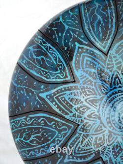 READY NOW steel tongue drum hank 12' (30cm) Pentatonic F# 432hz handmade in UK
