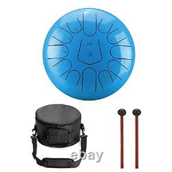 RUNMIND 12 Inch 13 Note Steel Tongue Drum Percussion Instrument Lotus HandPan