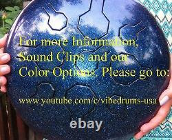 STAINLESS Steel Tongue Drum Handpan VibeDrum Copper Sun 2 sides/2 scales