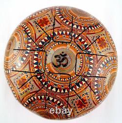 Secrets of India 9 23cm Steel Tongue Drum Tankdrum Muster Inka Azteken