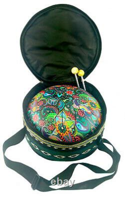 Secrets of India 9 Steel Tongue Drum Tank Drum Muster psychedelisch LSD