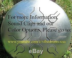 Stainless Steel Tongue Drum, Handpan Double VibeDrum Natural 18 Notes P