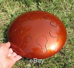 Stainless Steel Tongue Drum Mini-Vibe Earth 10 Cosmic Scale Handpan
