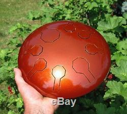 Stainless Steel Tongue Drum Mini-Vibe- Earth Freya Scale 10 Handpan