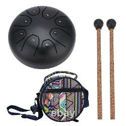 Steel Hand Drum Tongue Drum with Baton for Meditation Yoga Sound Healing coffee