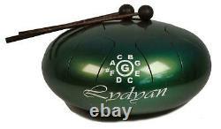 Steel Lydian Scale Handpan Tank 9 Note Tongue Hank Drum Hand Reiki Meditation