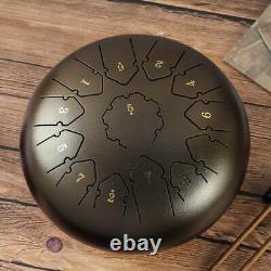Steel Tongue Drum 12 13 Notes Handpan Drum Instrument Drum Bronze color