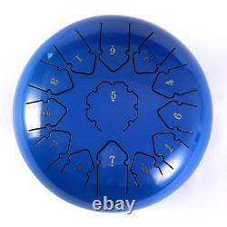 Steel Tongue Drum 12 13 Notes Percussion Handpan Drum Instrument Drum Dark blue