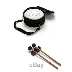 Steel Tongue Drum 12 13 Notes Percussion Handpan Drum Instrument Drum White