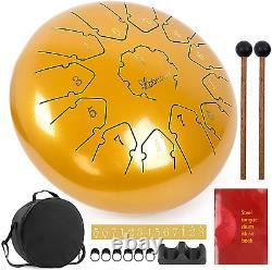 Steel Tongue Drum 12 Inch 13 Notes Handpan Drum Kit Tank Drum Percussion Instrum