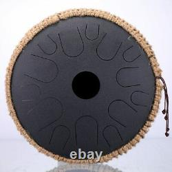 Steel Tongue Drum 13 Inch 15 Tone Handheld Tank Percussion Instrument Yoga Medit