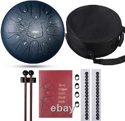 Steel Tongue Drum, 13 Notes 12 Inch Hand Tongue Drum for Mother Day Percussion I