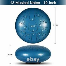 Steel Tongue Drum 13 Notes 12 inches Hand Tongue Drum Percussion Instrument L
