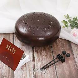 Steel Tongue Drum 13 Notes 12 inches Percussion Instrument Handpan Drum with