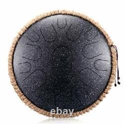 Steel Tongue Drum 13 inch 15 tone Drum Handheld Tank Drum Percussion