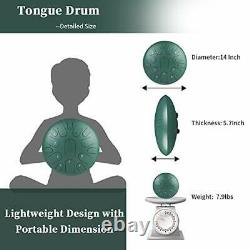 Steel Tongue Drum 15 Notes 14 Inches Lotus Hand Pan Drum Percussion Instrumen