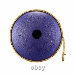 Steel Tongue Drum C Key Percussion Instrument Handpan 14 inch 14 Notes Purple