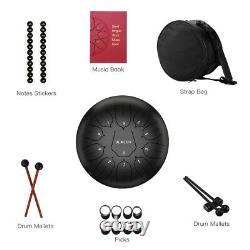 Steel Tongue Drum D key 10 Inch 11 Note Handpan Drum Padded Bag Religious Adult