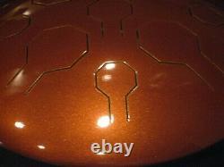 Steel Tongue Drum, EDELSTAHL, Earth Vibedrum-B 9 Töne 31cm- E-Moll-440 Hz