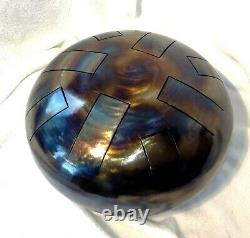 Steel Tongue Drum, E Indian, 12, 440hz, Hand Made, READY NOW