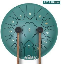 Steel Tongue Drum, Hand Pan Drum 13 Notes 12 Inche, Percussion Steel Drum Instrum