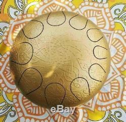 Steel Tongue Drum Hand Pan Handpan Singing Bowl Tank for Meditation 12