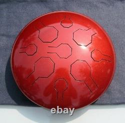 Steel Tongue Drum, Handpan, EDELSTAHL CS VibedrumB 9 Töne, D-Moll-432 Hz