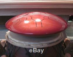 Steel Tongue Drum, Handpan, EDELSTAHL CS Vibedrum-S 9 Töne D-Moll-432 Hz