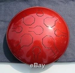 Steel Tongue Drum, Handpan, EDELSTAHL, Copper Sun Double VibeDrum-B, 18 Noten