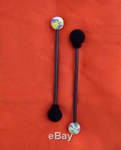 Steel Tongue Drum, Handpan, EDELSTAHL, Deep Space Double VibeDrum-P, 18 Noten