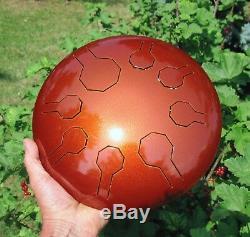 Steel Tongue Drum, Handpan, EDELSTAHL Earth Mini-Vibe 8 Töne 25 cm- Cosmic