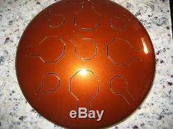 Steel Tongue Drum, Handpan, EDELSTAHL Earth Single Vibedrum-B 9 Töne 31 cm
