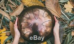 Steel Tongue Drum Handpan Folk Percussion Handmade Instrument Ø 340 mm