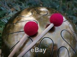 Steel Tongue Drum Handpan Sound Healing Meditation Ideal for Traveler Ø 240 mm
