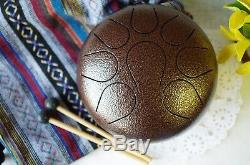 Steel Tongue Drum Handpan drum Chakra drum WuYou 9in Great Christmas Gift Bronze