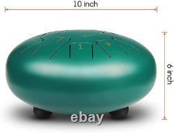Steel Tongue Drum Kit 10 Inch Alloy Steel Drums Key Of D 11 Tones Instrument